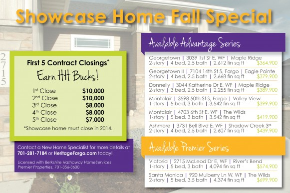 Showcase Home Fall Special