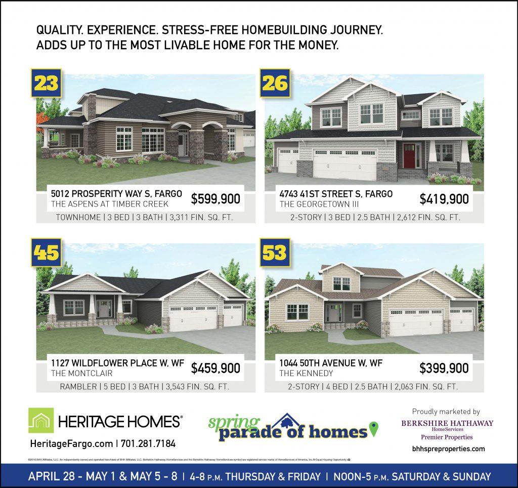 Parade of homes heritage homes fargo moorhead custom for Fargo nd home builders