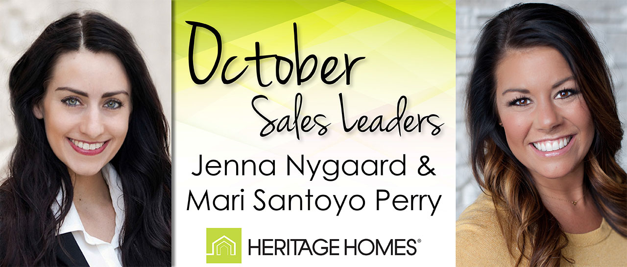October 2016 Sales Leaders – Jenna Nygaard & Mari Santoyo Perry