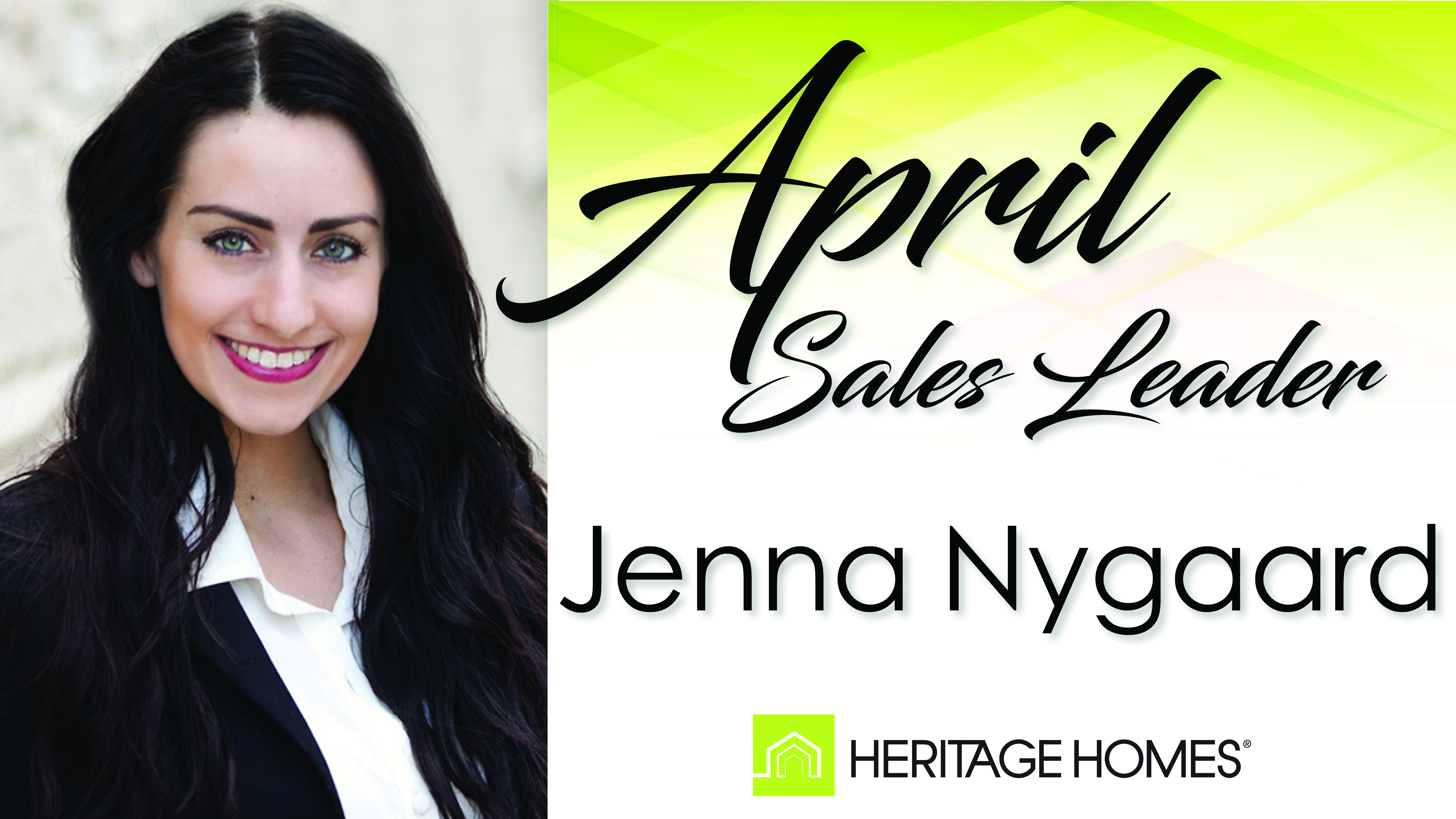April 2017 Sales Leader – Jenna Nygaard