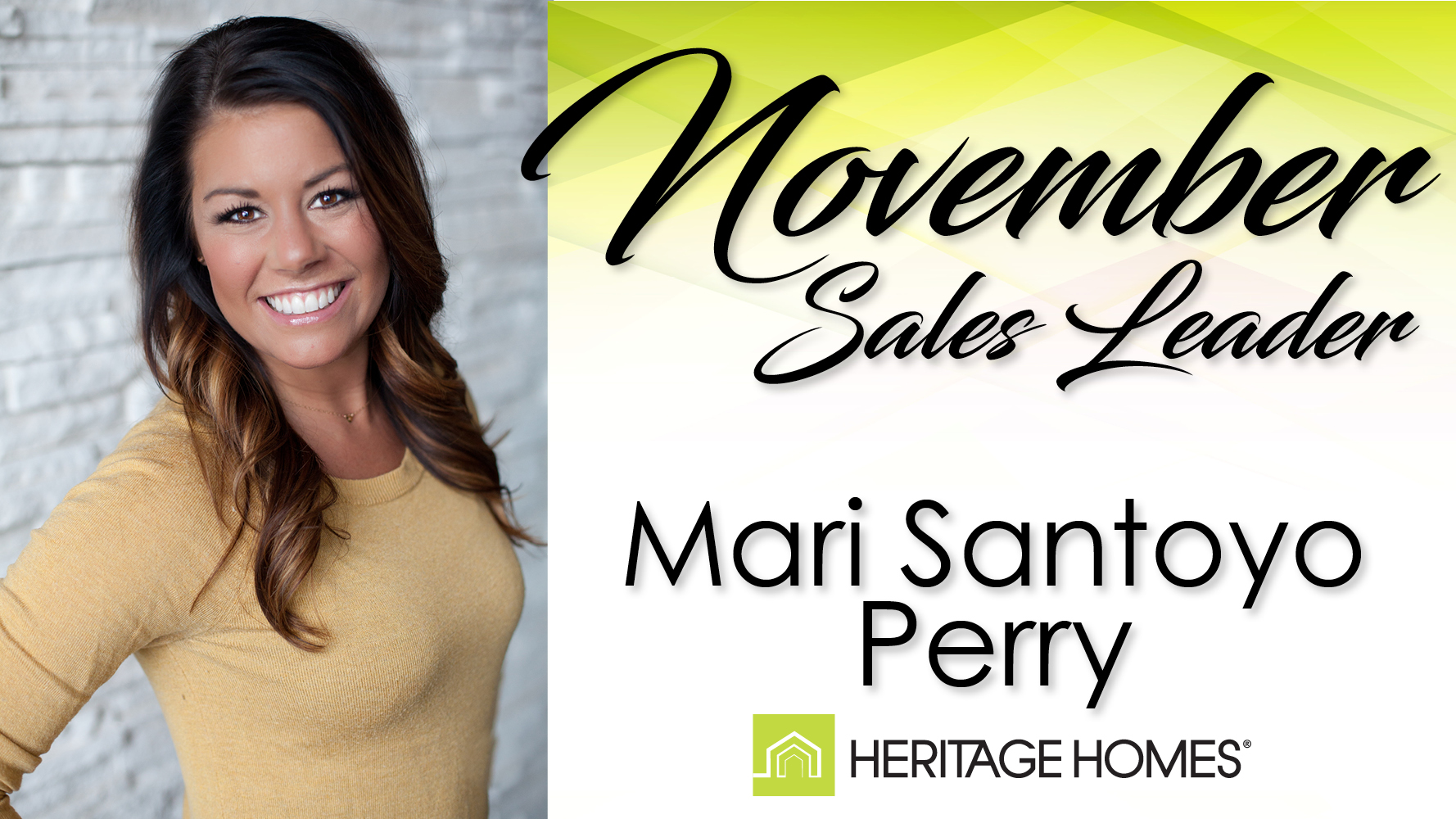 November Sales Leader – Mari Santoyo Perry