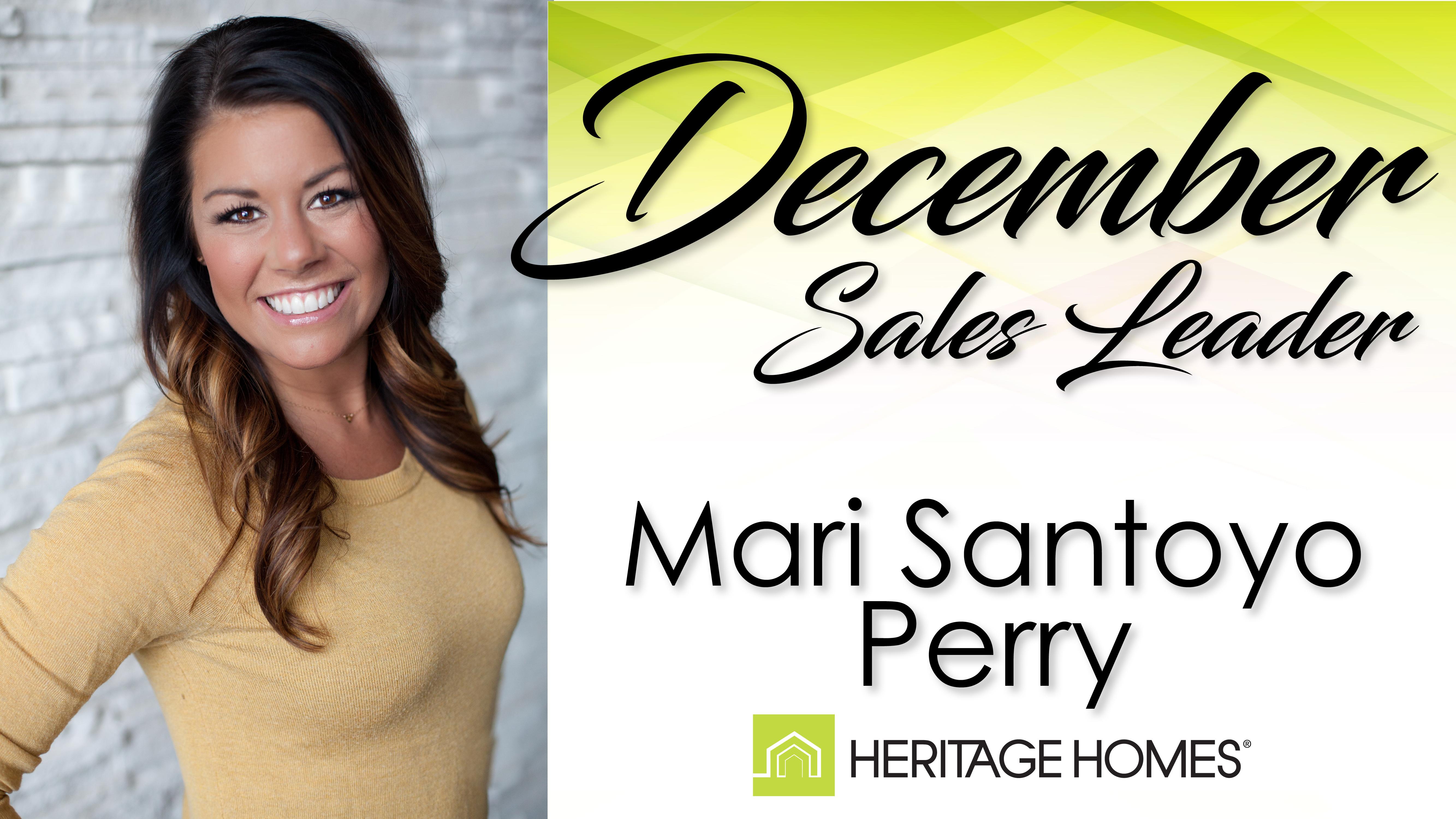 December Sales Leader – Mari Santoyo Perry