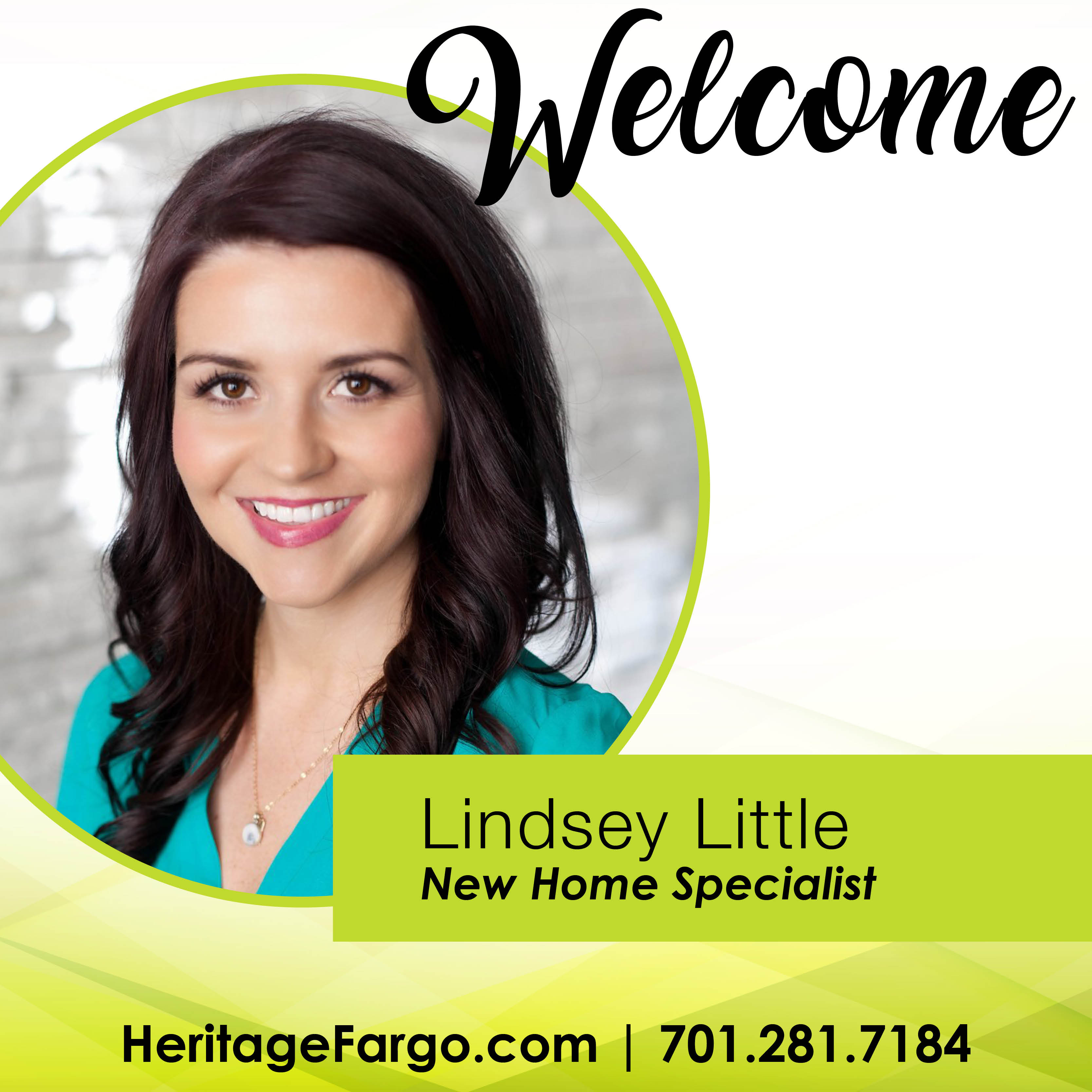 Welcome Lindsey Little: New Home Specialist