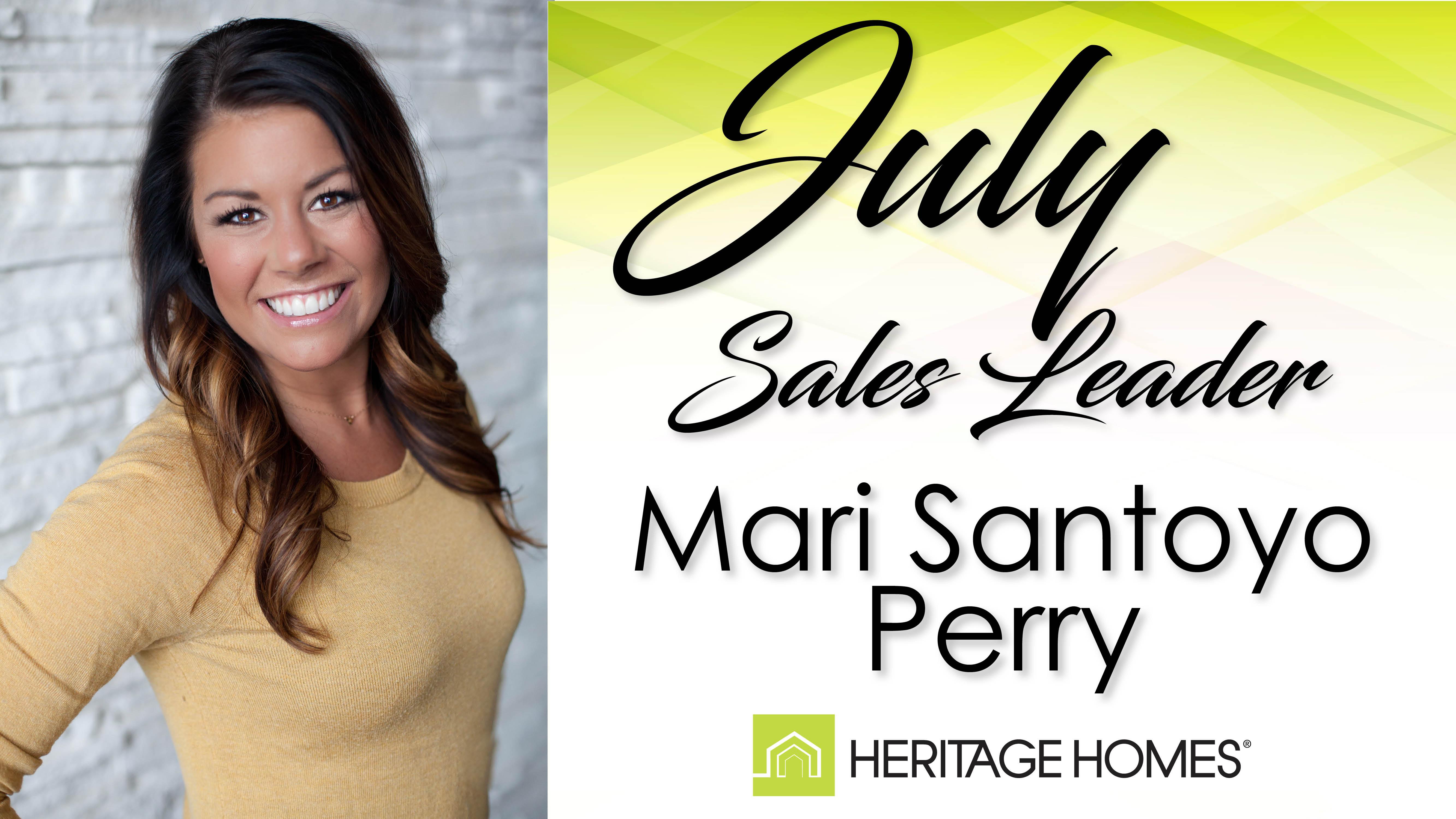 July Sales Leader – Mari Santoyo Perry