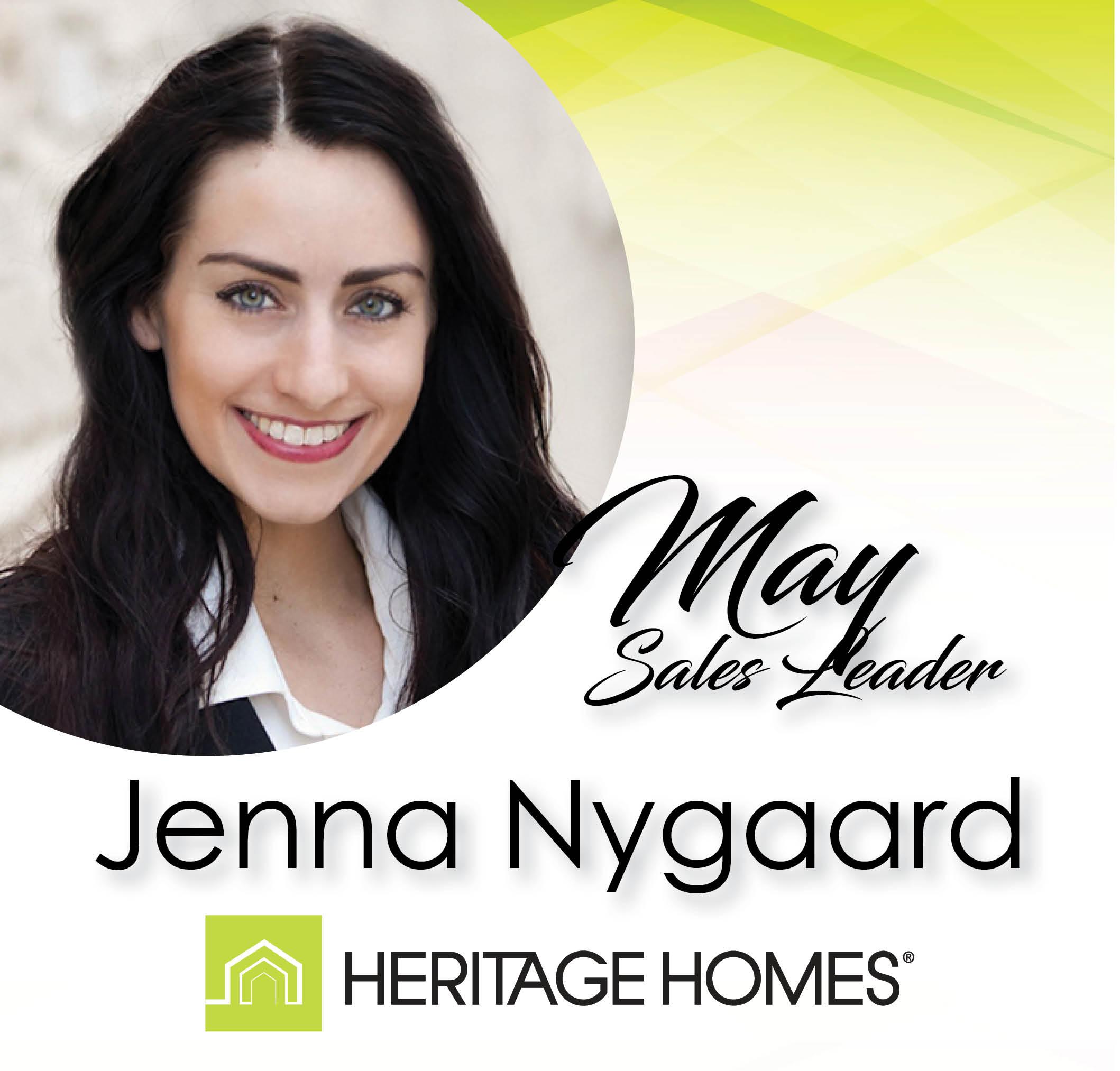 May 2019 Sales Leader – Jenna Nygaard