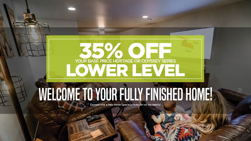35% Off Lower Level Limited Time Offer