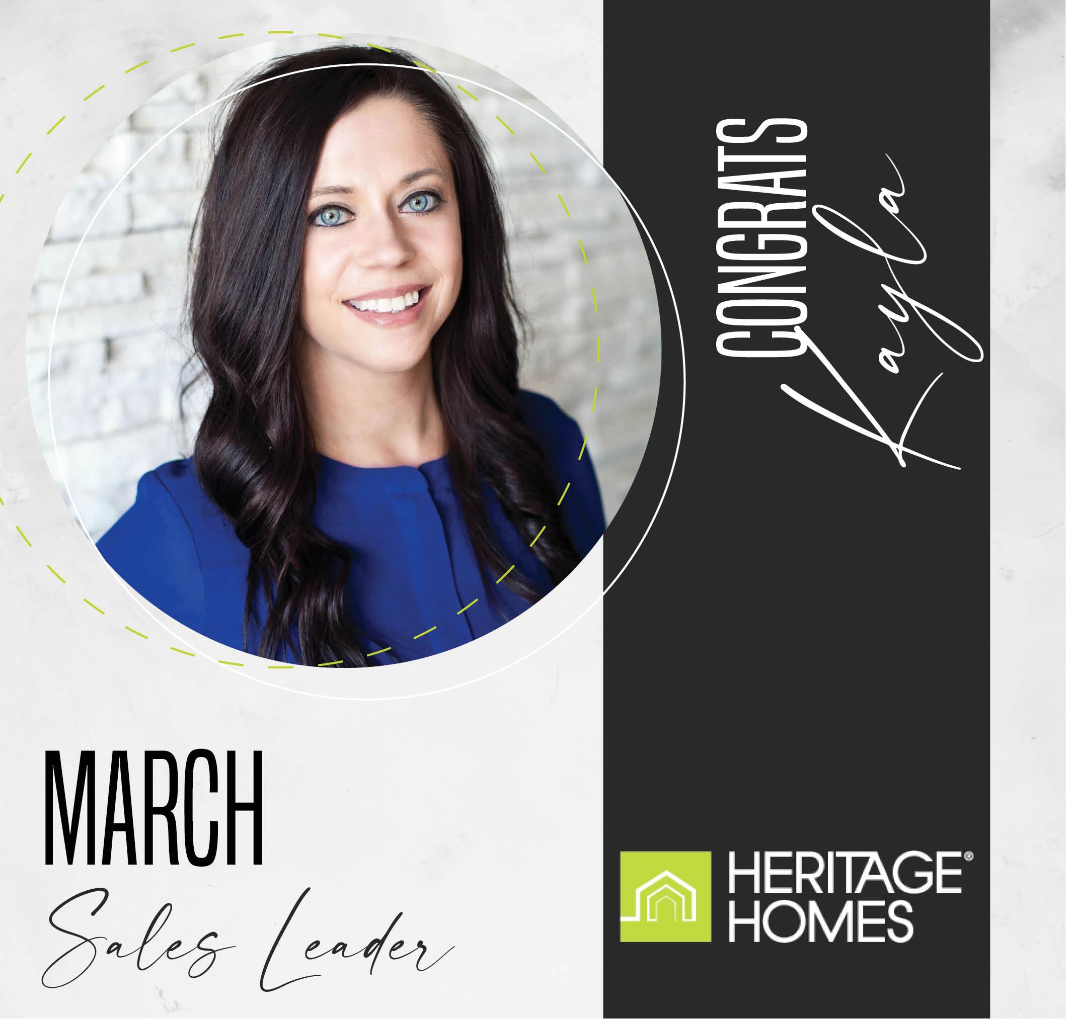 March Sales Leader – Kayla Bates