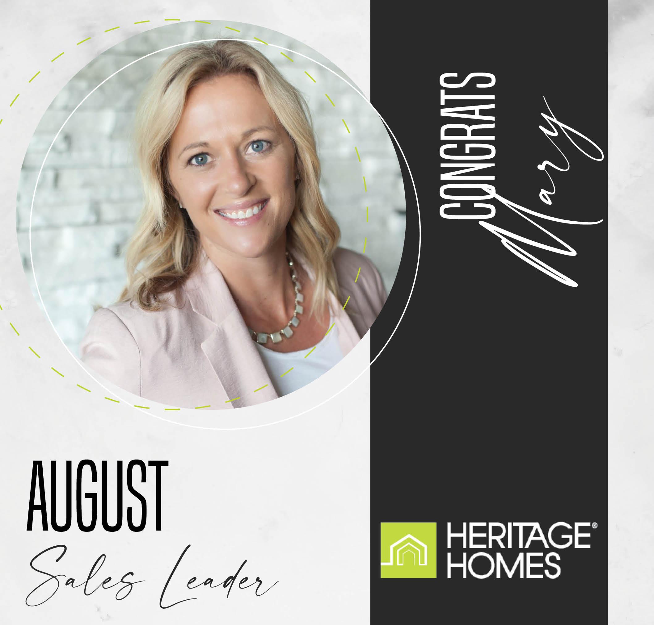 August Sales Leader – Mary Klabo